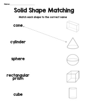 Grade 1 3D Shapes Lesson Plan and Materials by Mrs Romano