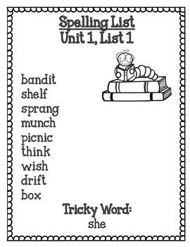 2nd Grade Spelling List by Elementary Me- I Heart Teaching