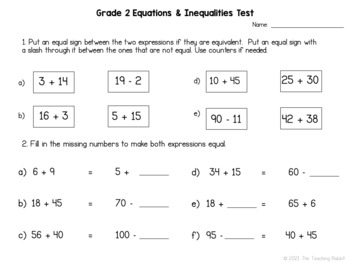 Grade 2 Math Tests Bundle (Based on Ontario Curriculum) by