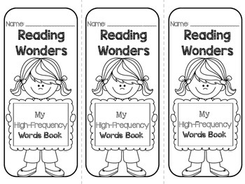 Grade 2 Reading Wonders High Frequency Words {My High
