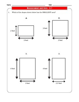 Grade 3 Common Core Math: Measurement and Data Worksheets