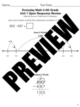 Grade 4 Math Review Bundle Adapted from Unit 1 New