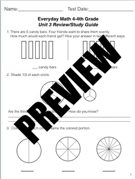 Grade 4 Math Review Study Guide Adapted from Unit 3 New