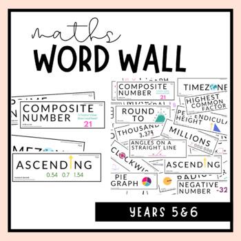 Grade 5 & 6 Maths Word Wall Australian Curriculum by Ell