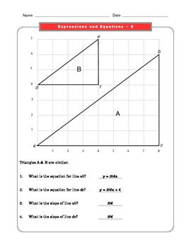 Grade 8 Common Core Math Worksheets: Expressions and