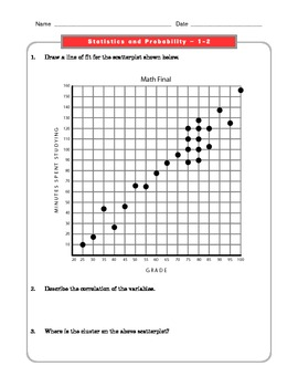 Grade 8 Common Core Math Worksheets: Statistics and
