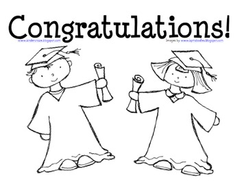 Graduation Coloring Page for Preschool and Kindergarten by
