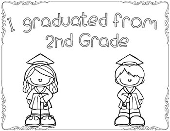 Graduation Coloring Pages FREEBIE! by Kindergarten