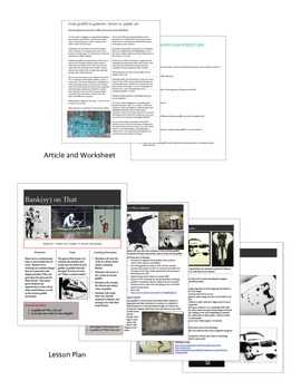 Graffiti, Street Art, and Banksy Art Lesson and Project by