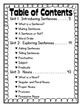 Grammar: First Grade Printables and Anchor Charts by