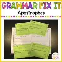 Grammar Fix It - Apostrophes - Possessives and Contractions