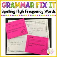 Grammar Fix It - Spelling High Frequency Words