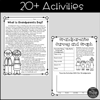Grandparents Day Activities for Upper Elementary by The