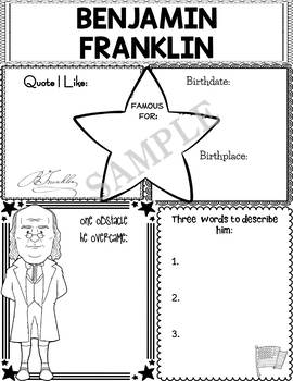 Graphic Organizer : Benjamin Franklin, Founding Fathers