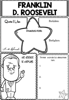 Graphic Organizer : Franklin D. Roosevelt by Little Lotus