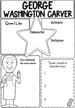 Graphic Organizer : George Washington Carver by Little