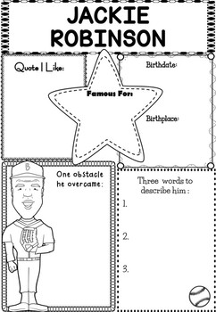 Graphic Organizer : Pro Athletes: Jackie Robinson by The
