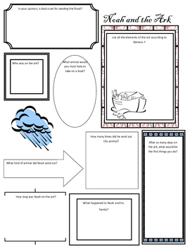 Graphic Organizer on Noah's Ark from Genesis by My