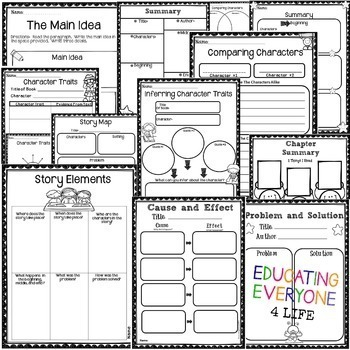 Graphic Organizers For Reading by Educating Everyone 4