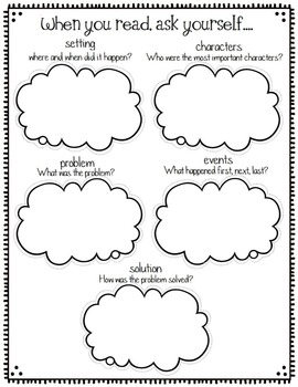 Graphic Organizers for Story Elements, Reading