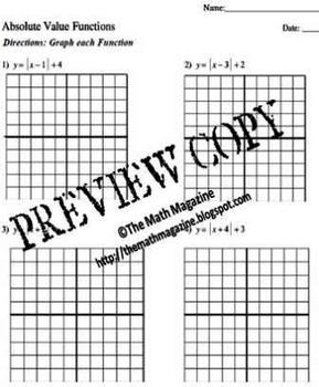 All Worksheets » Graphing Absolute Value Worksheets