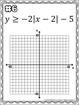 Graphing Absolute Value Inequalities Independent Practice