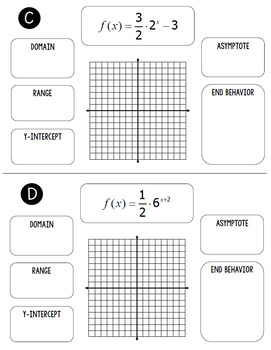 Graphing Exponential Functions Flip Book by All Things