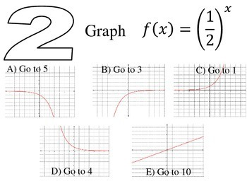Graphing Functions Fun Activity Maze Game Algebra by