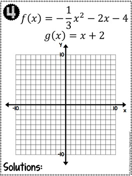 Graphing Linear and Quadratic Systems of Equations