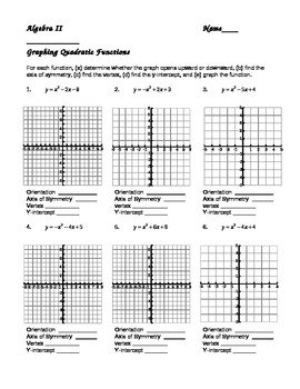 30 Graphing Quadratic Functions In Standard Form Worksheet
