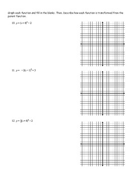 Graphing Quadratic Functions in Vertex and Intercept Form