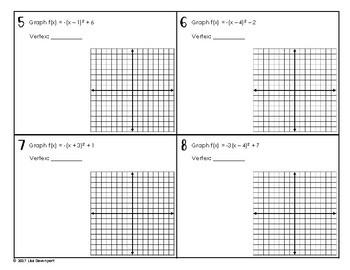 30 Graphing A Parabola From Vertex Form Worksheet Answer