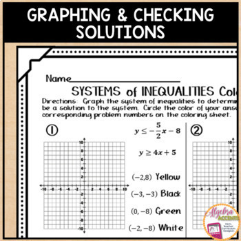 Systems of inequalities coloring activity answer key