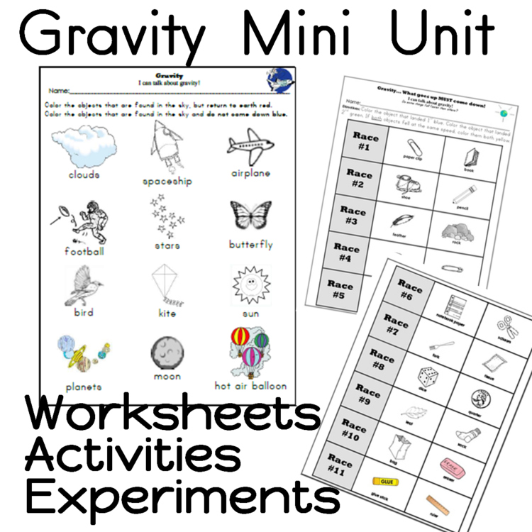 Gravity Unit, Worksheets and Activity by Sailing Through