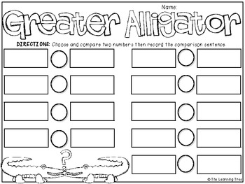 Greater Alligator {Greater Than/Less Than} FREEBIE by The