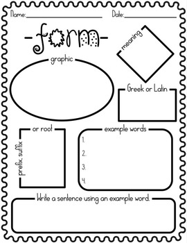 Greek & Latin Root Graphic Organizers by Reading with