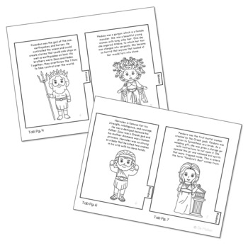 Greek Mythology Characters Mini Book with Short