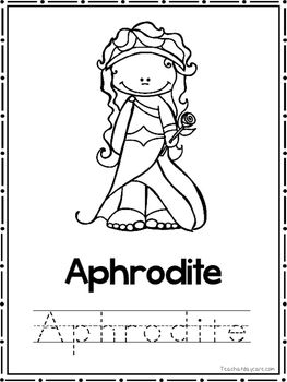 Greek Mythology Coloring Book worksheets. Preschool-2nd