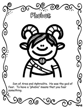 Greek Mythology Content Coloring Book by Acres of