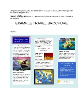 Greek Mythology Odyssey Travel Brochure Project By Sarah Keith TpT