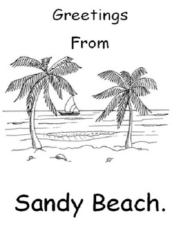 Greetings From Sandy Beach Spelling Activity Booklet
