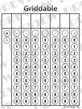 Griddable & Dry Erase Board Algebra I & II STAAR Test by