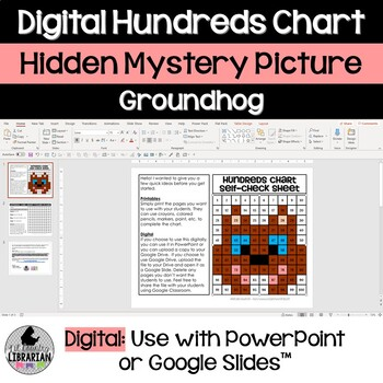 Groundhog Day Hundreds Chart Hidden Picture Activity for