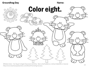 Kindergarten Math Worksheet For Groundhog. Kindergarten