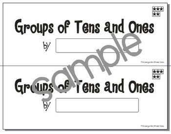 Groups of Tens and Ones Book: Composing and Decomposing