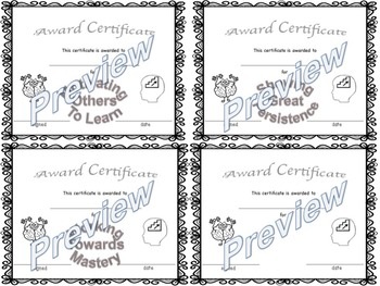 Growth Mindset Award Certificates by Growth Mindset in