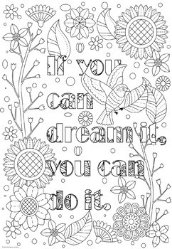 Growth Mindset Coloring Pages Coloring Doodles! by Geek