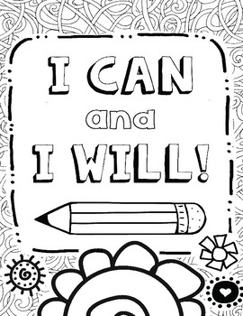 Growth Mindset Coloring Pages for Mindfulness, Set #1 by