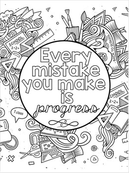 Growth Mindset Coloring Posters by Cara's Creative