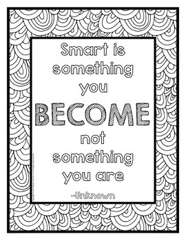 Growth Mindset Coloring Posters {36 8.5x11 Coloring Pages